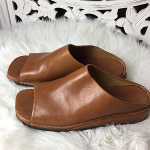 Cole Haan brown leather slide Mules